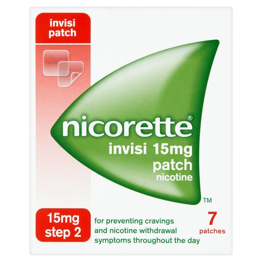 Nicorette Invisi Step 2 15mg / 16 hours Transdermal Patch - 7 Patches