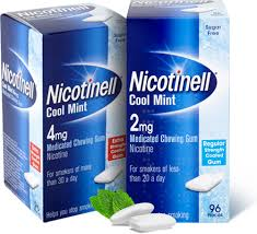 Nicotinell 2mg Medicated Chewing Gum Cool Mint - 96 Pieces (Low Strength Coated Gum)