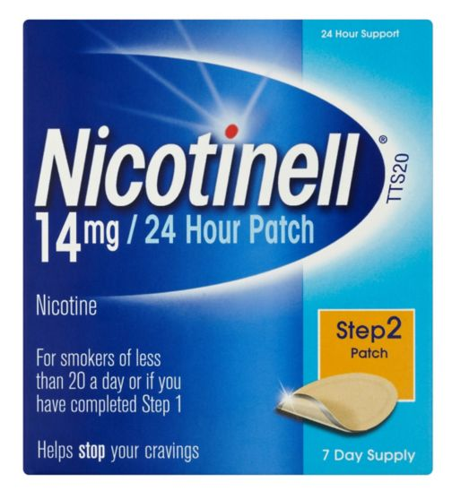 Nicotinell 14mg/24 Hour Transdermal Patch - Step 2 Patch
