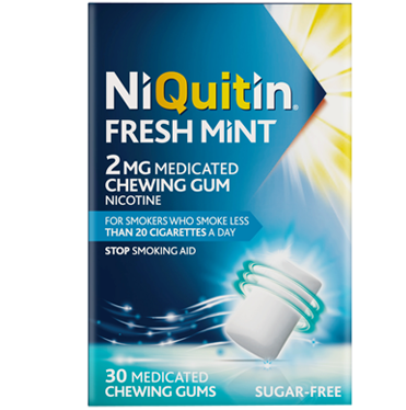 NiQuitin Freshmint 2mg Medicated Chewing Gum - 30 Medicated Chewing Gums