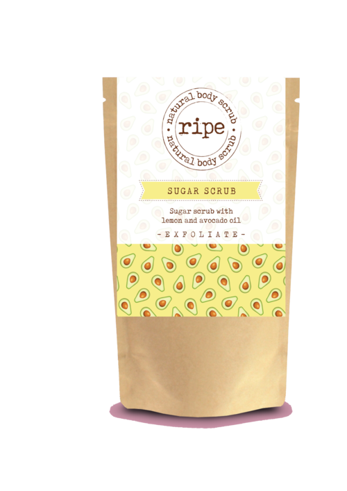 RIPE SUGAR SCRUB WITH LEMON & AVOCADO 200G