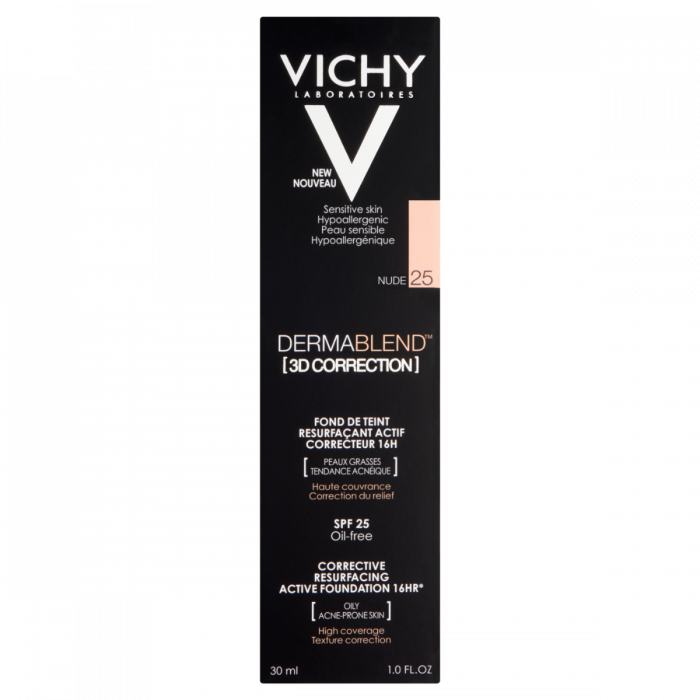 Vichy Dermablend 3D Correction Foundation 16HR SPF 25 - 25 Nude