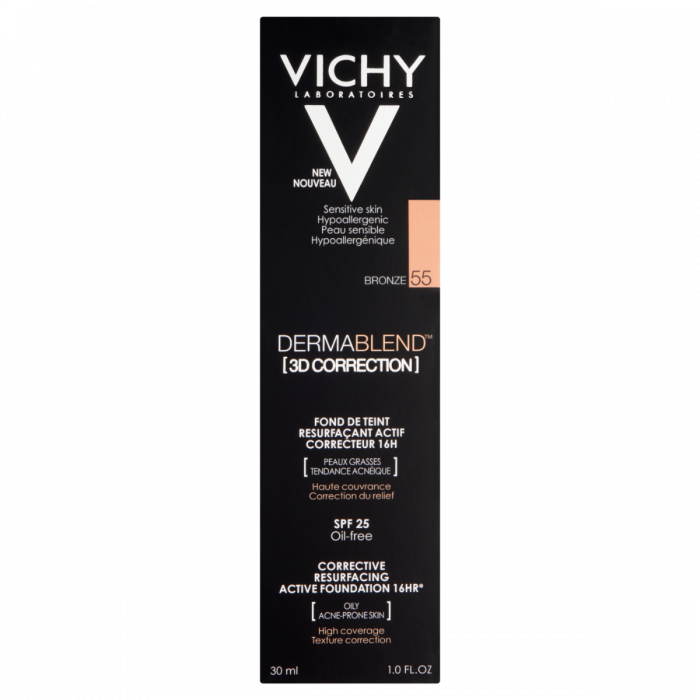 Vichy Dermablend 3D Correction Foundation 16HR SPF 25 - 55 Bronze